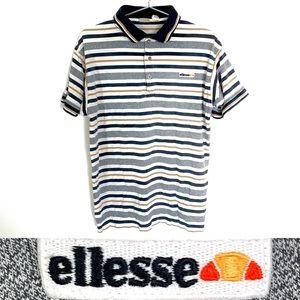🔥vintage ellesse striped polo shirt 5 men's large